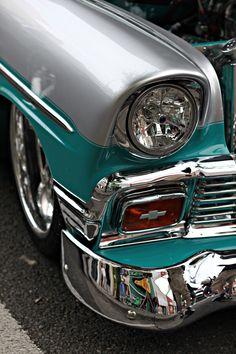 Visit The MACHINE Shop Café... ❤ Best of Chevy @ MACHINE ❤ (1956 Chevrolet Bel…