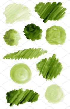 50 Green Watercolor Brush Strokes and Shapes; Green Watercolor Texture Backgrounds by DESIGN BY nube on Watercolor Splash Png, Green Watercolor, Watercolor Brushes, Watercolor Texture, Watercolor Cards, Flower Background Wallpaper, Flower Backgrounds, Paper Background, Textured Background