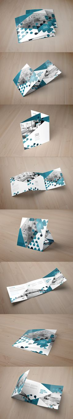 Square Young Modern Trifold. Download here: http://graphicriver.net/item/square-young-modern-trifold/8753192?ref=abradesign #trifold #brochure