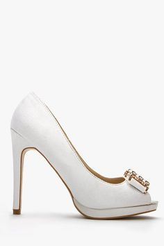 Suedette Buckle Open Toe Heels for £5 @ Everything5pounds.com