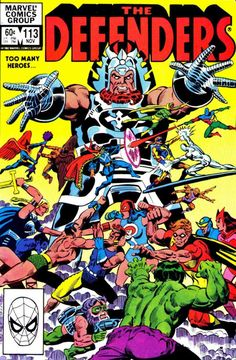 The cover to The Defenders (November 1972) # 113 by Don Perlin and Steve Mitchell.