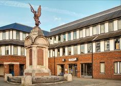The War Memorial and Council offices in Basingstoke, Hampshire by Anguskirk, via Flickr