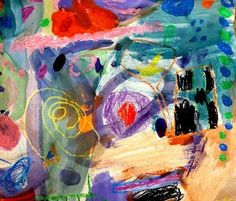 The colors are explosive---Kandinsky