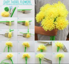 Manualidades fciles para San Valentn Flores DIY Handfie DIY The Effective Pictures We Offer You Abou Kids Crafts, Diy Arts And Crafts, Craft Stick Crafts, Easter Crafts, Yarn Flowers, Paper Flowers Diy, Flower Crafts, Flores Diy, Diy Fleur