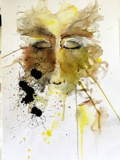 She 3 Watercolour and ink