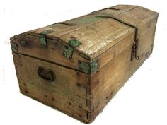 Late 1700's Antique Wooden Coach Trunk
