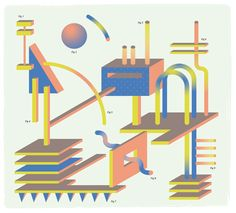 Forms  Colours_6 : Friday by Sophie Douala, via Behance