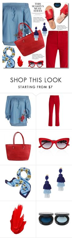 """Colors"" by shadow-12 ❤ liked on Polyvore featuring Bliss and Mischief, H&M, Dolce&Gabbana, Tory Burch, Oscar de la Renta and Maybelline"