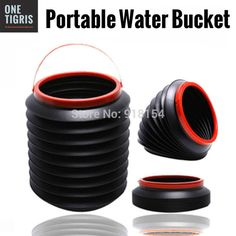 1 Gallon Portable Collapsible Water Bucket. Camp Storage Emergency Survival