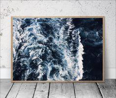 ocean print sea waves photography sea foam wall art sea waves print ocean photography blue sea print nautical decor modern minimal wall art by S4StarSbySiSSy on Etsy https://www.etsy.com/ca/listing/528284797/ocean-print-sea-waves-photography-sea
