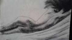 """- - """" Serie Desnudos """" Dibujo en Crboncillo De Rosalía M. Aba - - Ros Maba"""