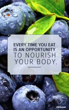 Nourish your body, don't rubbish it