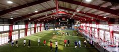 The 31 Best Gyms in America 2015 Baseball Training, Golf Training, Indoor Soccer Field, Indoor Batting Cage, Warehouse Gym, Dream Gym, Gym Lighting, Gym Interior, Outdoor Gym