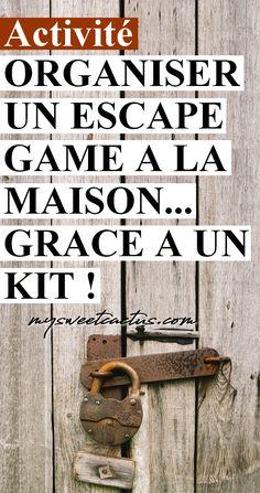 Activité originale en famille ou entre amis : organiser un escape game chez soi dans sa maison grâce à un kit. #escapegame #blogueuse #avis #activité #jeu #enfants