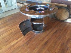 Delightful Wine Barrel Poker Table