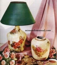 Manualidades Decoupage en vidrio ~ Mimundomanual