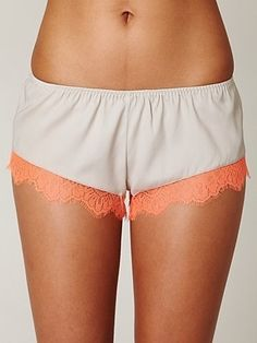 La Fee Verte French Lace Trim Short at Free People Clothing Boutique - StyleSays