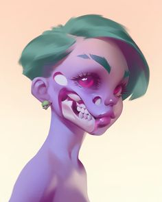 Fantasy Character Design, Character Design Inspiration, Character Art, 3d Model Character, Pretty Art, Cute Art, Zombie Art, Dibujos Cute, Cartoon Art