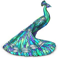 "Amazon.com - The ""Dragonfly"" 5"" Tall Peacock Figurine by The Hamilton Collection -"