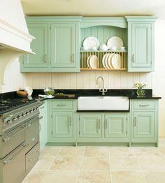 Seafoam Green and a Craftsman Galley Kitchen Update — Sunset ...