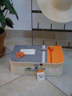 valisette à cadeau Home And Deco, Scrap, Beige, Orange, Cartonnage, Gifts, Other, Scrap Material