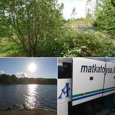 Lohja - Helsinki - Tampere - Kuopio. Viimeiselle osuudelle lisäksi Jämsä. Myrsky rikkoi radan ja nyt mennään bussilla ja Jyväskylästä taas junalla.