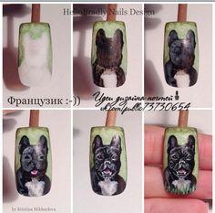 МК ( Пошаговые уроки дизайна ногт..