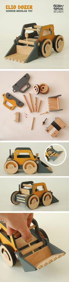 Elio Dozer Wooden modular toy