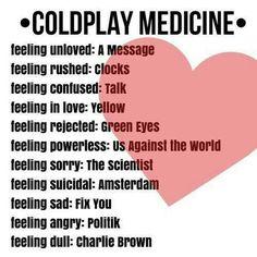 Coldplay medicine