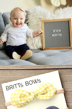 Month to month baby photos. We've got you covered on accessories for your monthly baby pictures. Our super soft nylon headbands will fit you sweet newborn and stretch and she grows Newborn Photo Props, Newborn Photos, Chambray, Baby Shower Gifts, Baby Gifts, Monthly Baby Photos, Toddler Bows, Baby Girl Bows, Baby Yellow