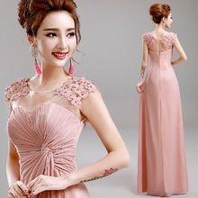 Mode New Sexy Vent fleur rose robe de soirée longue plage robes de bal 2015 abendkleider mariée robe de soirée robe E199(China (Mainland))