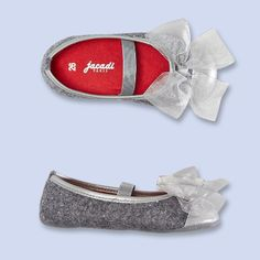 Wool Sequin Ballet Slippers. For holiday dressing up!