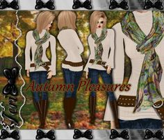 ✿ ¸. • * ¨ * • ☆JUST OUT OF PEER!☆ ¸. • * ¨* • ✿  ✮AUTUMN PLEASURES JEANS BUNDLE: http://www.imvu.com/shop/product.php?products_id=31500050  * Comes with jeans outfit, scarf, and boots.  ✿My Full Catty: http://www.imvu.com/shop/web_search.php?manufacturers_id=95572994  ✿SellingBeauty Catty: http://www.imvu.com/shop/web_search.php?manufacturers_id=102695625  ✿☆ ¸. • * ¨ * • ☆JUST OUT OF PEER! ¸. • * ¨* • ☆✿
