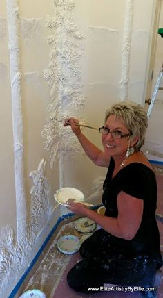 Bas-relief artist and teacher Ellie Ellis. Bas-relief artist and teacher Ellie Ellis. Plaster Crafts, Plaster Art, Plaster Walls, Decorative Plaster, Wall Sculptures, Sculpture Art, Wall Murals, Wall Art, Wall Décor