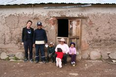 me and an alpaca farmer and his family in the Andes of Peru.  hard life for alpaca farmers as they do not get proper prices for their wool and therefor have a second job