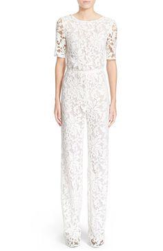 8b607828e89d Diane von Furstenberg  Kendra  Embellished Lace Jumpsuit available at   Nordstrom White Lace Jumpsuit