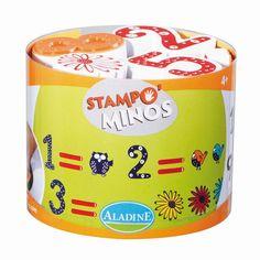Kinderstempel Stampo Minos Zahlen mit Stempelkissen von Aladine ab 4 Jahren