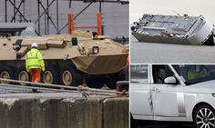 Demaged Land Rovers: Armoured personnel carrier emerges unscratched from Hoegh Osaka