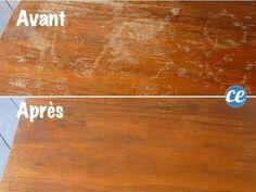 comment enlever les traces d'eau sur un meuble en bois House Cleaning Tips, Diy Cleaning Products, Cleaning Hacks, Dining Etiquette, Quites, Useful Life Hacks, Diy Organization, Clean House, Cool Furniture