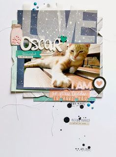 #papercrafting #scrapbook #layout idea: Paper Issues: May Pinspire Me by @janammcc