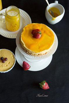 Flavz Corner: Easy Eggless No Bake Mango Cheese Cake