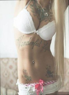 Sexy Babe with Tattoos