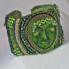 Beaded Cuff Bracelet Handmade Polymer Clay ... | Need to Bead and stu ...