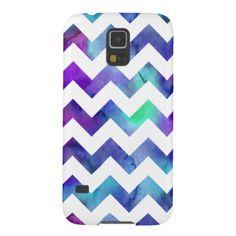 Purple Blue Watercolor Chevron Samsung Galaxy S5