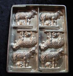 Rare Schokoladenform chocolate mold moule Osterlamm Lämmer, Joh. Fohn Wien in Antiquitäten & Kunst, Alte Berufe, Bäcker & Konditor   eBay!