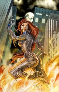 Witchblade. Although I have spent most of my working life in education teaching with a strong emphasis on history, my other love is art, unfortunately I posses no aptitude for art fortunately these artists do! - look, enjoy and learn! Linda ( Educational director of http://www.siteseen.info ).