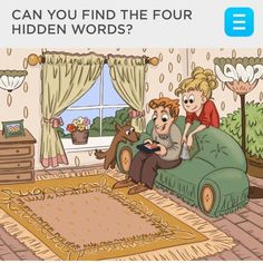 Picture Puzzle for finding hidden words Picture Puzzles Brain Teasers, Brain Teasers Riddles, Brain Teasers For Kids, Brain Teaser Puzzles, Hidden Words In Pictures, Hidden Picture Puzzles, Hidden Images, Word Pictures, Funny Pictures
