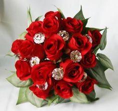 Red roses & bling
