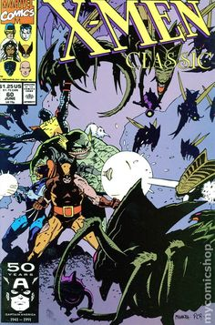 X-Men Classic - Wolverine, Colossus & the Starjammers battle the Brood - art by Mike Mignola. Got mine signed by Mike Mignola @ ECCC 2015 Comic Book Artists, Comic Artist, Comic Books Art, Marvel Comics, Dark Horse Comics, Mike Mignola Art, Batman, Classic Comics, Comic Book Covers