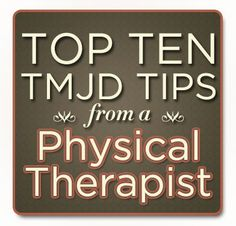 "10 TMJ Disorder Tips from a Physical Therapist so helpful! Repinned by  SOS Inc. Resources  <a href=""http://www.www.pinterest.comsostherapy"" rel=""nofollow"" target=""_blank"">www.www.pinterest.com...</a>."